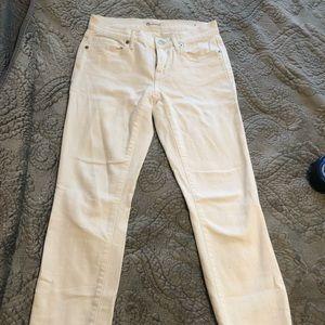 Madewell White Straight-Leg Jeans